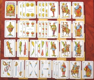 These cards, used to play baraja, are also used by curanderas to look into the present, past and future.