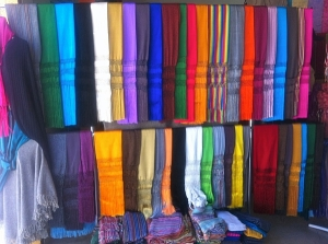 Rebozos come in a variety of fabrics and colors.