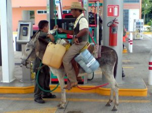 It is not uncommon to send a representative to get gas for rural communities that are not near a PenMex
