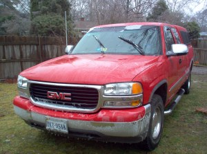 Our red truck--that we no longer own.