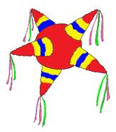A traditional Christmas piñata is a seven pointed star.