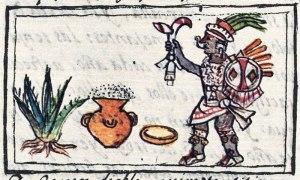 The Aztec/Mexica god of pulque wine, Tezcatzoncatl.