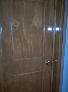 Our bathroom door!