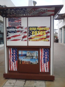 Kiosk in front of the U.S. consulate in San Miguel de Allende.