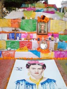An altar in honor of Frida Kahlo.