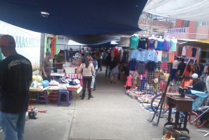 The tianguis on Sunday in Cerano.