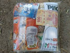 This is the dispensa, give away, from PRI in Teocaltiche, Jalisco during the 2015 mid-term elections.