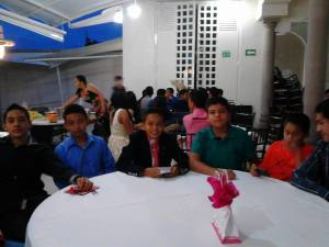 My son and his group of galanes (young men).
