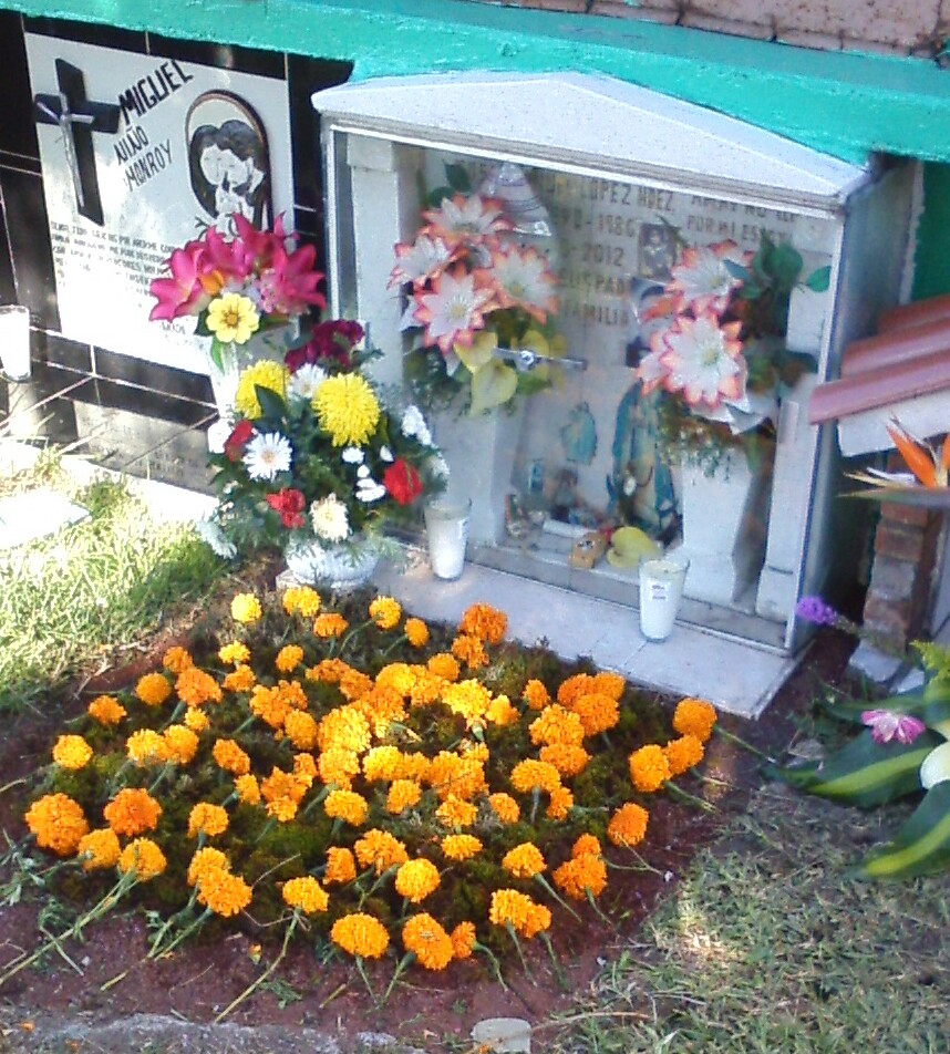 Mexican traditions for death surviving mexico a childs crypt notice the toy cars and pacifier behind the glass izmirmasajfo