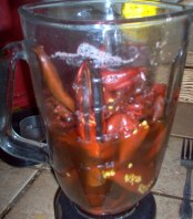 Blend the boiled and deseeded chiles.