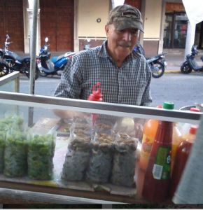 One of our local peanut vendors in Moroleon, GTO