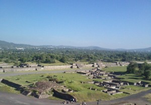 The view from atop of the Pyramid of the Sun.