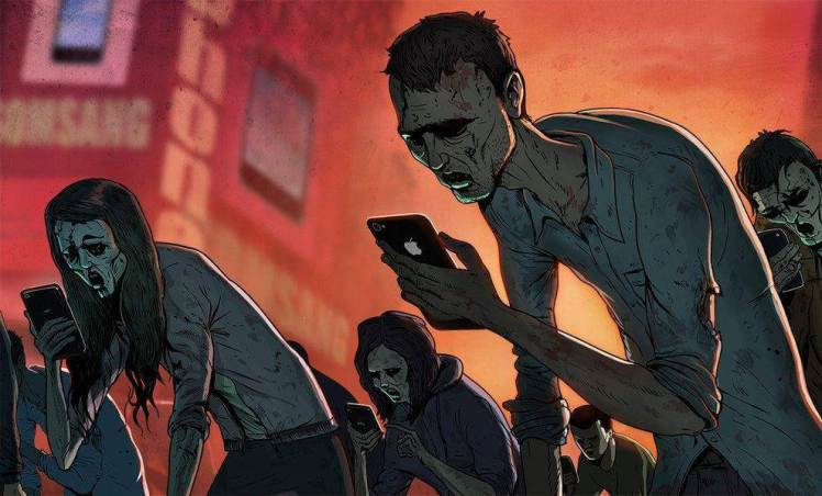zombie-with-phone