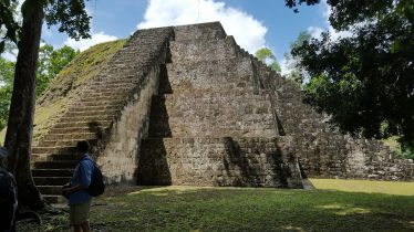 """The pyramids are in Tikal, a national park that has ancient Mayan pyramids that date back thousands of years, much like those in Mexico. One of Guatemala's mottos is """"Guatemala, corazón del mundo Maya"""