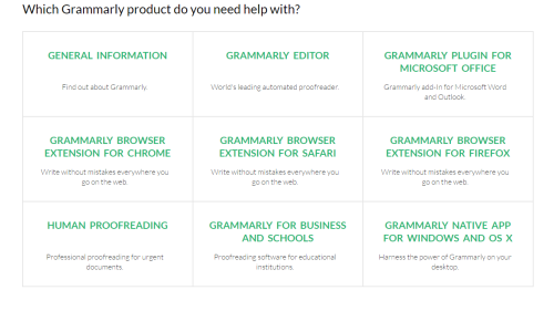 grammarly products