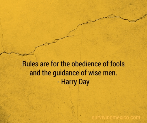 Rules are for the obedience of fools and the guidance of wise men. - Harry Day (1)