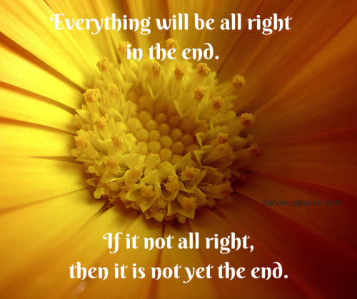 Copy of Everything will be all right in the end.