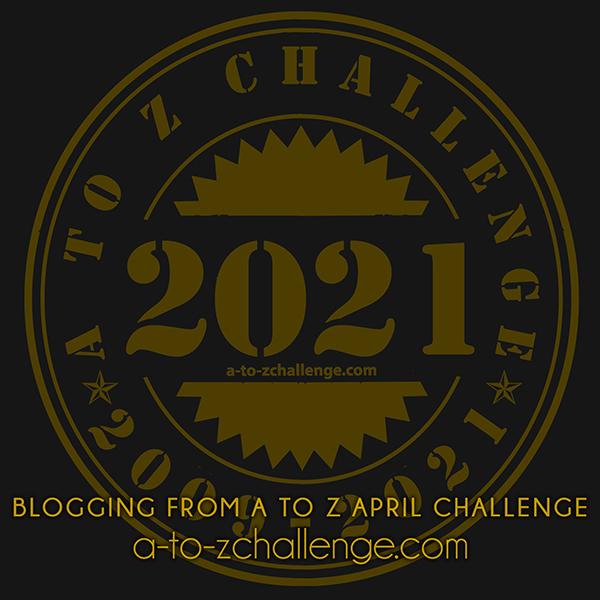 #AtoZChallenge 2021 badge